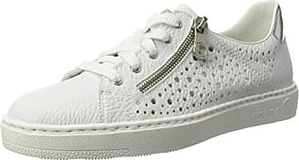 L3263 Rieker, Chaussures Femmes, Blanc (glace / Weiss / Argento / Silverflower), 39 Eu