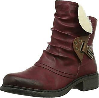 Rieker 55298, Damen Kurzschaft Stiefel, Rot (Burgundy 35), 41 EU