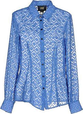 Discount Largest Supplier Roberto Cavalli Woman Pintucked Silk Shirt Sky Blue Size 46 Roberto Cavalli Lowest Price VYuSjz29f7