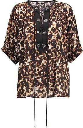 Roberto Cavalli Woman Pintucked Silk Shirt Sky Blue Size 48 Roberto Cavalli Sale Visit l9FruR13