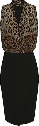 Roberto Cavalli Woman Paneled Leopard-print Wool-blend Dress Black Size 40 Roberto Cavalli 2018 Cool Outlet Cost Buy Cheap Ebay Footlocker Finishline Cheap Online lKUPVNbv