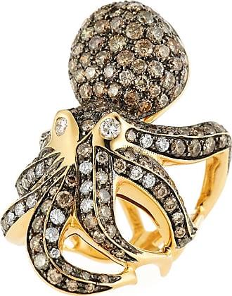 Roberto Coin 18k Cognac Diamond Octopus Ring, Size 6.5