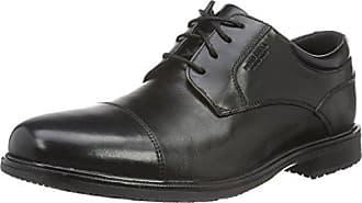 Essential Details II Apron Toe, Chaussures à Lacets Homme, Noir-Noir (Cuir Noir), 42 1/2 EU (8.5 UK)Rockport