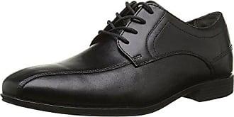 Rockport Bike Toe - Zapatos con Cordones de Cuero Hombre, Color Negro, Talla 42.5