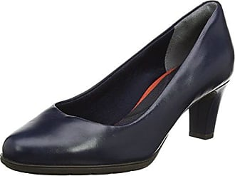 Rockport Kirsie Plain Pump, Escarpins Bout Fermé Femme, (Black Leather), 41 EU