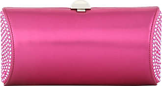 Bright pink crystal-embellished rigid clutch Rodo wHKhZLy
