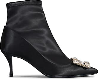 10cm Leather PODIUM Laser Cut ankle Boots Spring/summerRoger Vivier a9K2Nj2Uy