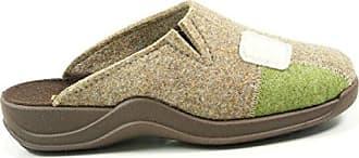 Rohde 2310 Vaasa-D Schuhe Damen Hausschuhe Pantoffeln Filz Weite G, Schuhgröße:41;Farbe:Beige