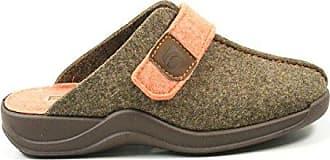 Rohde 2315 Vaasa-D Schuhe Damen Hausschuhe Pantoffeln Filz, Schuhgröße:43, Farbe:Braun