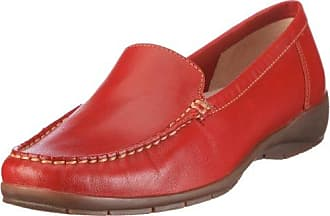 Damen Einfach PU Leder Bequem Erhöhte Sportliche Loafers Klettverschluss Freizeitschuhe Rot (36) Yiiquan zmIFai4