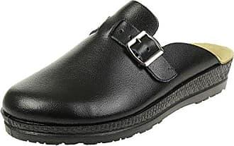 Rohde Schuhe Herren Hausschuhe Pantoffeln Filz Augsburg 6681, schuhgröße_1:eur 41;Farbe:noir