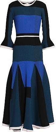 Roksanda Woman Metallic Cloqué And Satin-paneled Crepe Midi Dress Black Size 8 Roksanda Ilincic Cheap Sale 2018 Unisex Sale Online Big Sale Cheap Price BwKLb