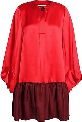Roksanda Woman Floral-printed Silk-satin Top Petrol Size 10 Roksanda Ilincic Cheap Original bkWqy