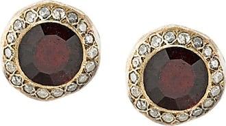 Rosa Maria garnet and diamond studs - Metallic 8pKDN