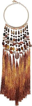 Rosantica Rum Tasseled Gold-tone Beaded Necklace - Brown cfcskNILb