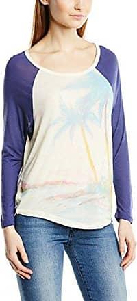 Quiksilver Dropped Raglan - Camiseta, con Manga 3/4 para Mujer, Color Elfenbein - Off-White (Warm White), Talla XS