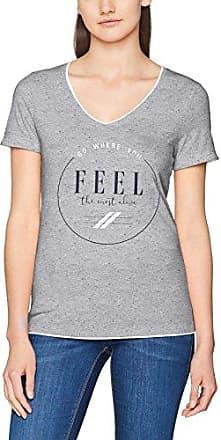 s.Oliver 14707326646, Camiseta para Mujer, Grey Melange Placed Print 94E0, 40