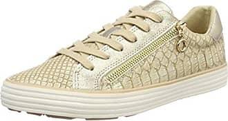 s.Oliver 23615, Sneakers Basses Femme, Beige (Dune/Gold 425), 41 EU