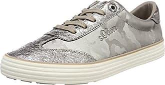 23626, Zapatillas para Mujer, Plateado (Silver), 41 EU s.Oliver