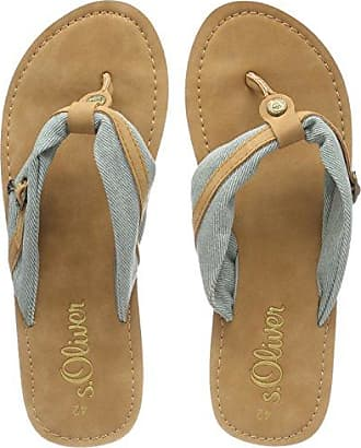 27150, Chanclas para Mujer, Verde (Turquoise), 40 EU s.Oliver