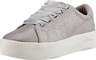 s.Oliver 23642, Zapatillas para Mujer, Blanco (White/Silver), 38 EU