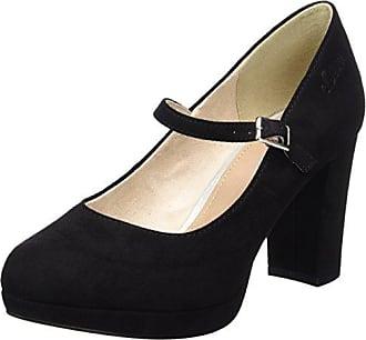 22401, Chaussures à Talons - Avant du Pieds Couvert Femme - Noir - Schwarz (Black Patent 018), 37s.Oliver
