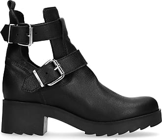 Weiße Buckle Boots mit Cut-outs (36,37,38,39,40,41,42)
