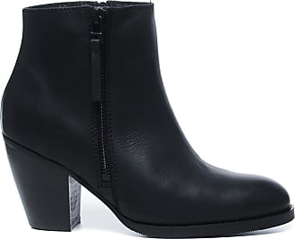 Kurze schwarze Lederstiefel mit Nieten (36,37,38,39,40,41,42)