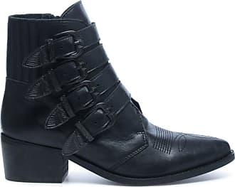 Schwarze Western Buckle Boots (36,37,38,39,40,41,42)
