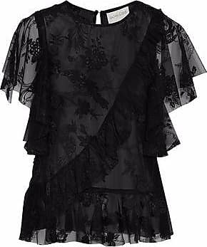 Sachin & Babi Woman Off-the-shoulder Ruffled Crepe De Chine Top Black Size 2 Sachin & Babi Free Shipping Pick A Best Pick A Best RkxjET