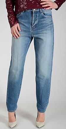 16cm Jeans Stonewashed Denim Größe 27 Saint Laurent