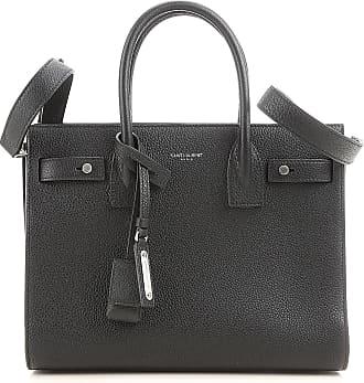 Top Handle Handbag On Sale, Grey, Leather, 2017, one size Saint Laurent