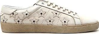 Star Leather Sneakers - IT44 / Blanc optique Saint Laurent kVQfN5ilx