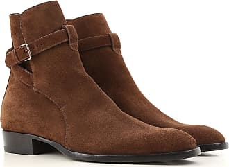 Boots for Men, Booties On Sale, Coffee, Suede leather, 2017, 5.5 Saint Laurent