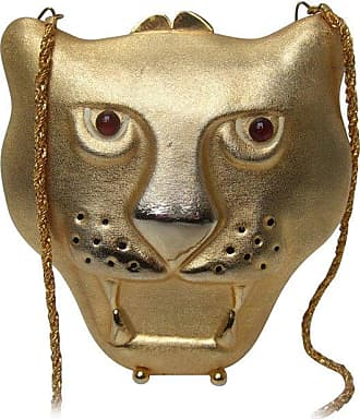 Saks Fifth Avenue Gilt Metal Panther Evening Bag Made In Italy yYTAdVH8