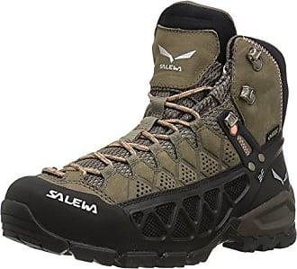SALEWA Mtn Trainer Mid Gtx, Scarpe da trekking Uomo, Nero/Rosso (Black/Indio 0943), 47 EU