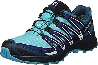 Ellipse 2 Aero W, Zapatillas de Senderismo y Multifunción para Mujer, Gris Claro (Titanium/Deep Blue/Petunia Blue), 42 2/3 EU Salomon