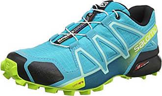 Salomon Femme Speedcross 4 Chaussures de Trail Running, Bleu (Poseidon/Eggshell Blue/Black), Taille: 7.5