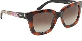 Sunglasses On Sale, Transparent Brown, 2017, one size Salvatore Ferragamo