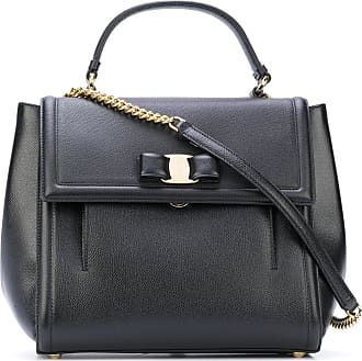 Salvatore Ferragamo Top Handle Handbag On Sale, Black, Leather, 2017, one size