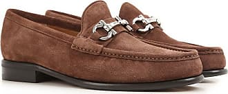 Loafers for Women On Sale, New Moka, Suede leather, 2017, 3 Salvatore Ferragamo
