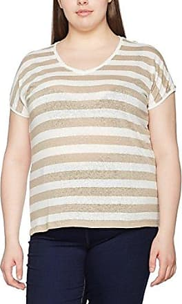 Samoon Tea Party, Camiseta para Mujer, Multicolor (Ivory Druck 9006), 50