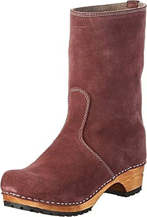 Sanita Charlotta Boot - Botas Altas de Piel Mujer, Color Gris, Talla 41