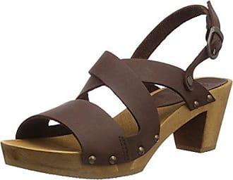 Sanita Sinja Square Sandal, Sandales Compensées FemmeMarronBraun (Antique Brown), 39