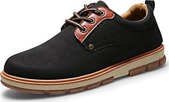 Schnürhalbschuhe herren Leder Schuhe Wildleder Klassiker Oxfords von Santimon Khaki 41 nL6NB