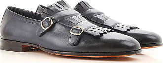Driver Loafer Shoes for Men On Sale, Shaded Dark Night blue, Leather, 2017, 10 10.5 11 6 8 8.5 Santoni