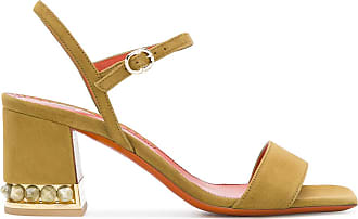 Sandals for Women On Sale in Outlet, Rose Collection, Gold, Leather, 2017, 7.5 Santoni