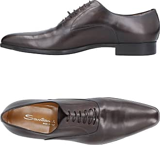 Brogue Shoes On Sale in Outlet, Ash, suede, 2017, 6 8 Santoni