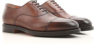Schnürschuh für Herren, Brogue-Schuh, Halbschuh, Haferlschuh, Oxfords, Derbies, Schattiertes Braun Bordeaux, Leder, 2017, 41 42.5 44 Santoni