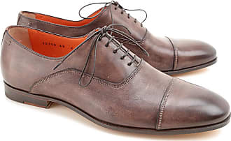 Lace Up Shoes for Men Oxfords, Derbies and Brogues On Sale in Outlet, Brown, brown, 2017, 5.5 Santoni